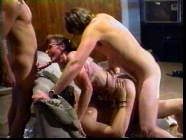Streaming porn video still #1 from Grateful Grandma's Gang Bang 2
