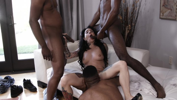 Streaming porn video still #1 from My First Black Gang Bang 4