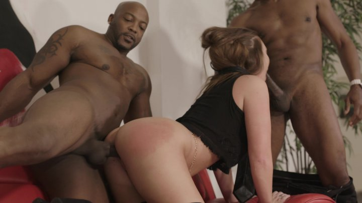 Streaming porn video still #2 from Interracial DP Vol. 2