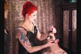 Streaming porn video still #11 from Academy For Sissies Lesson 1: Make-Up & Wigs