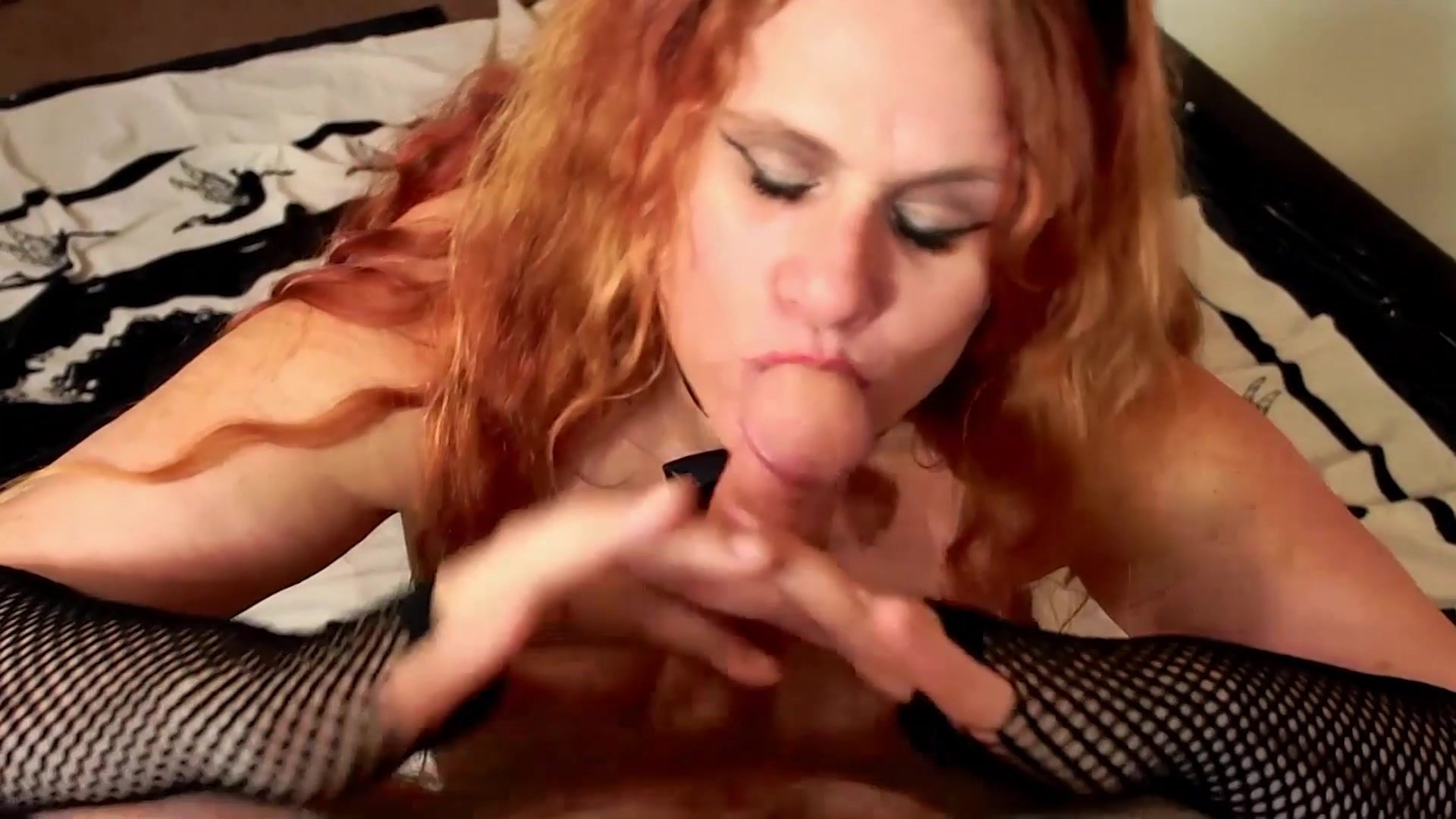 Huge tits kore sucks a huge cock and gets covered in cum