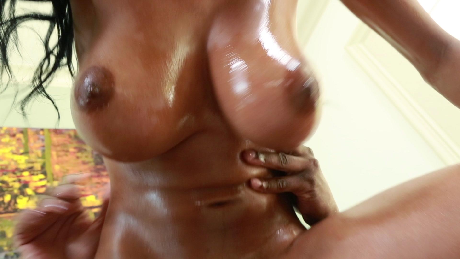 Big wet black tits