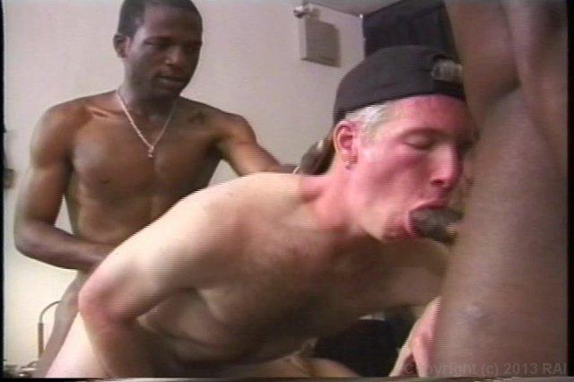 A gay interracial bang scene