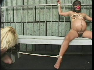 Streaming porn scene video image #4 from Pregnant Submissive Gets Dominated