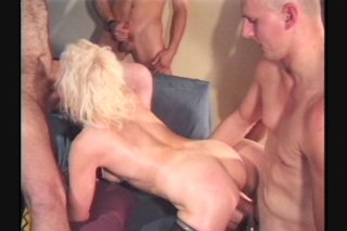 Streaming porn scene video image #8 from Gangbang the mature slut