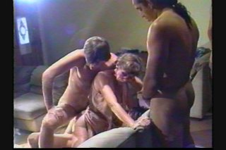 Streaming porn scene video image #3 from Horny granny enjoys gangbang