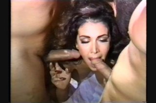 Streaming porn scene video image #3 from Busty brunette gets double pounded at a party