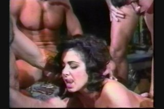 Streaming porn scene video image #7 from Busty brunette gets double pounded at a party