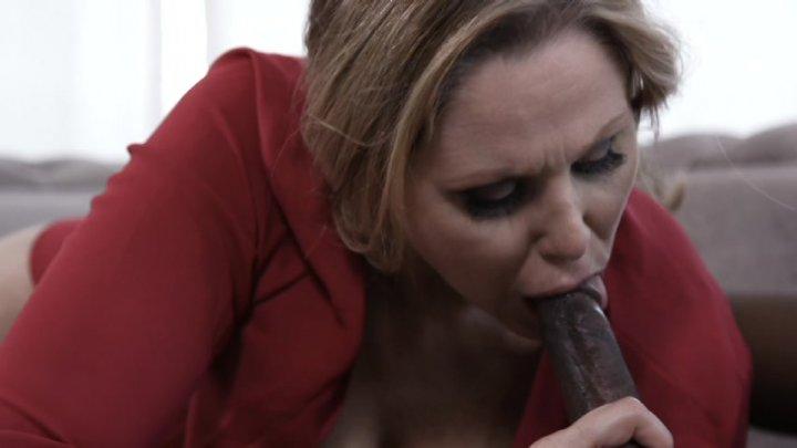 Close up of man licking a clit