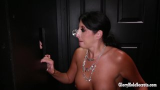 Streaming porn video still #9 from Gloryhole Secrets: Toni Vs Makayla: MILF Edition 2