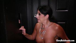 Streaming porn video still #9 from Gloryhole Secrets: Toni Vs Makayla: MILF Edition 2