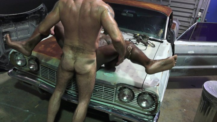 Streaming porn video still #1 from Rocco Steele's Dad's Bareback Collision Shop