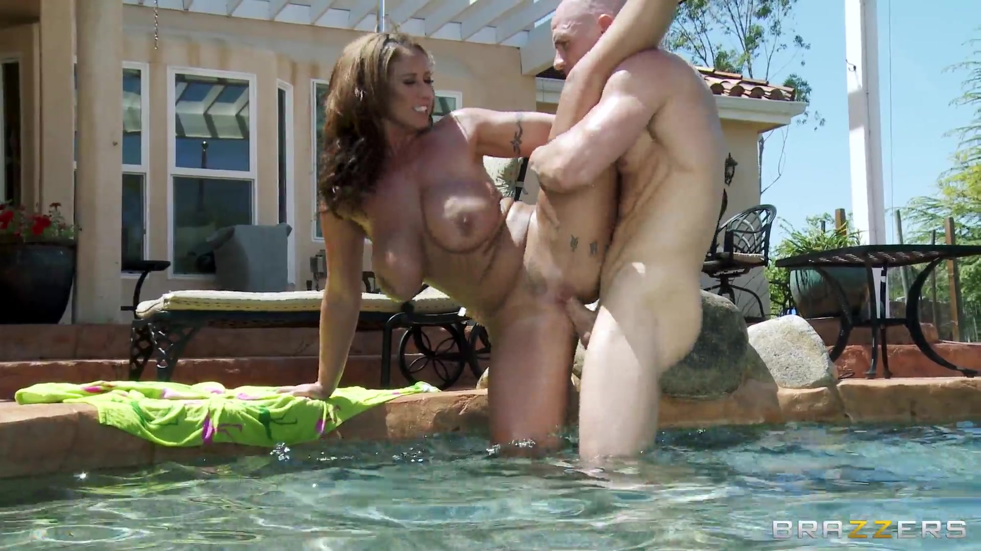 My wife fucked in the pool