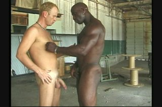 Streaming porn scene video image #1 from Pale White Dude and Black Stud