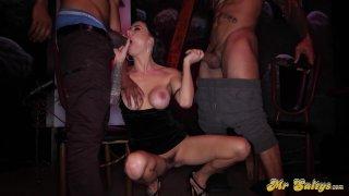 Streaming porn video still #2 from Mr. Salty's Backroom Blowbang Vol. 2