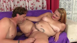 Streaming porn scene video image #3 from Strawberry Blonde BBW Has Her Moist Slit Fucked