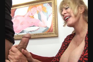 Streaming porn scene video image #1 from Big tits granny getting fucked hard by her nephew