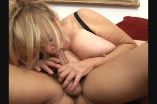 Streaming porn scene video image #9 from Big tits granny getting fucked hard by her nephew