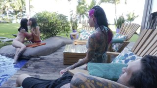Screenshot #19 from Joanna Angel + Small Hands Fuck Young Whores On Vacation