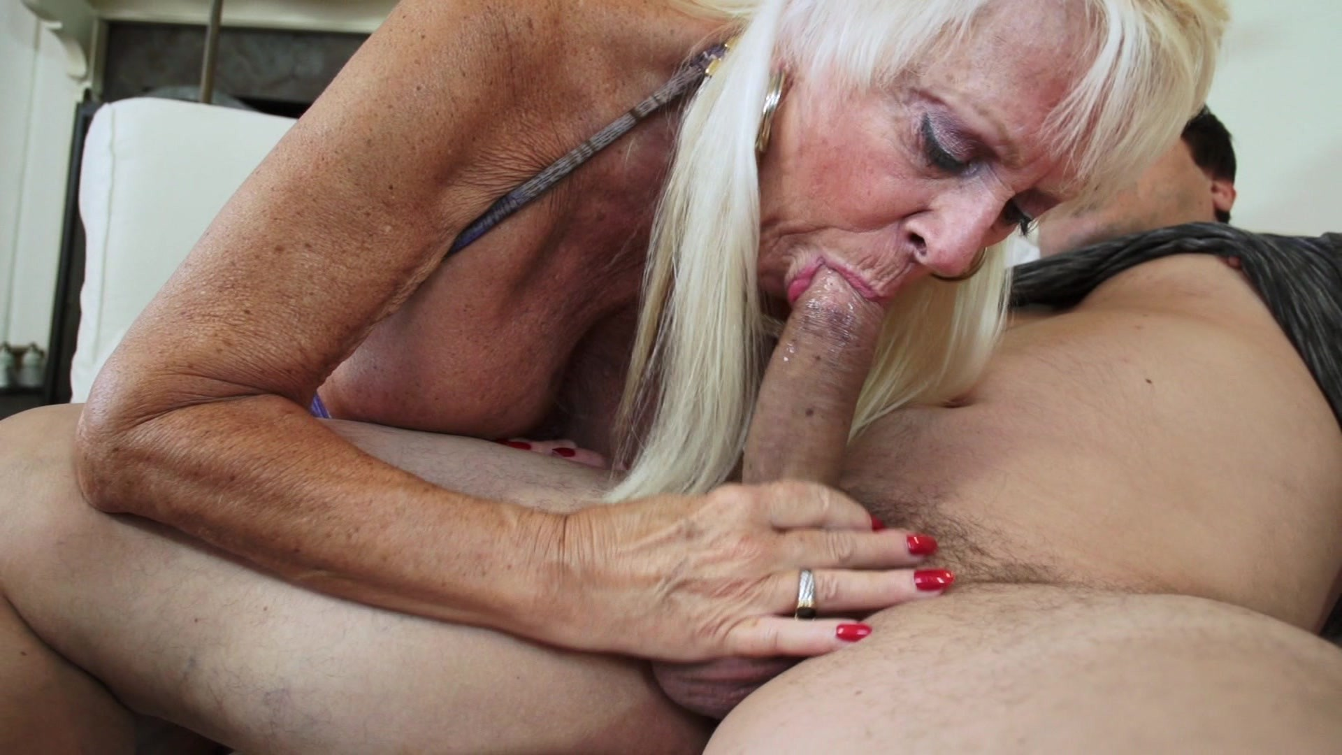 Horny granny fucking forces girl suck