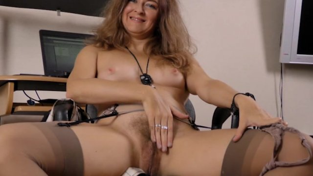 image Apricot pitts masturbates on her leather couch Part 8