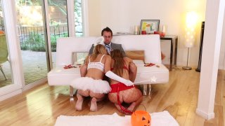Streaming porn video still #3 from Threesome Fantasies Fulfilled 5