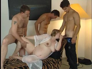 Streaming porn scene video image #1 from Pregnant whore in a gangbang