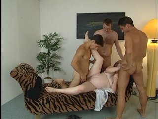 Streaming porn scene video image #4 from Pregnant whore in a gangbang