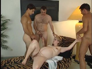 Streaming porn scene video image #5 from Pregnant whore in a gangbang