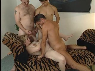 Streaming porn scene video image #9 from Pregnant whore in a gangbang