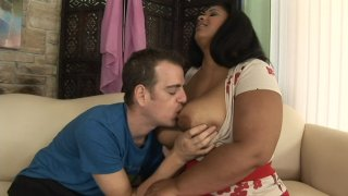 Streaming porn scene video image #2 from Black BBW Gets White Dick Stuffed Deep Inside Her