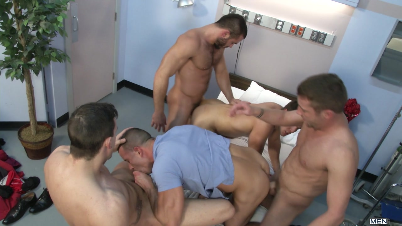 Hospital orgy video very