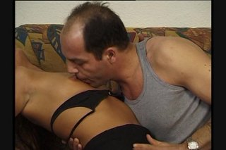 Streaming porn scene video image #2 from Horny dad fucks daughters hairy pussy