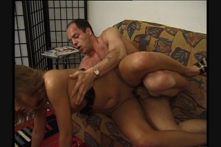 Streaming porn scene video image #9 from Horny dad fucks daughters hairy pussy