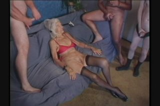 Streaming porn scene video image #4 from Grannys getting gangbanged by own nephews compilation