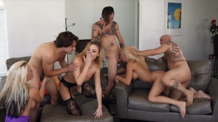 Streaming porn video still #2 from Orgy Fuck Fest