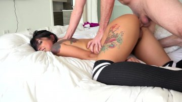 Hot Petite Latina Gina Valentina Lets Her Roommate Rail Her Pussy for Violating House Rules