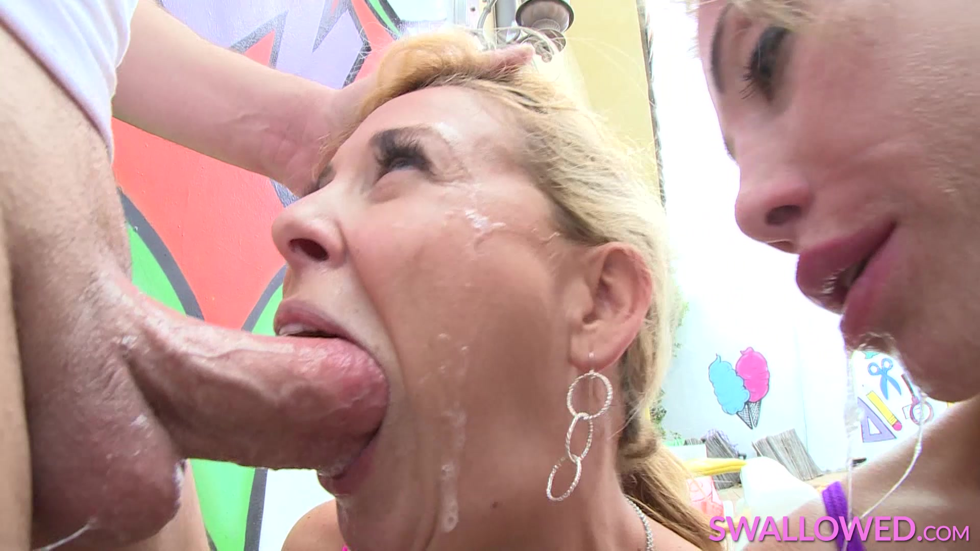 4 minutes of slobbing my dick 4