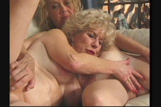 Streaming porn scene video image #3 from Two horny lesbian grannies enjoying each other