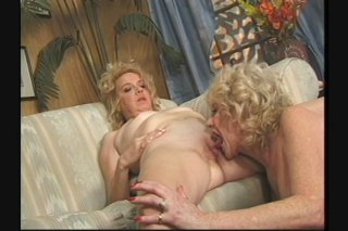 Streaming porn scene video image #4 from Two horny lesbian grannies enjoying each other
