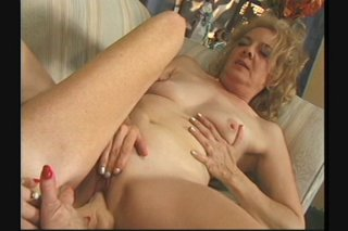 Streaming porn scene video image #8 from Two horny lesbian grannies enjoying each other