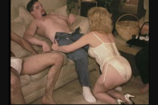 Streaming porn scene video image #1 from Delightful mature gangbang