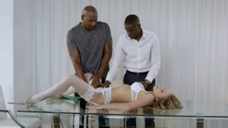 Streaming porn video still #15 from Interracial Threesomes Vol. 5