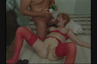 Streaming porn scene video image #3 from Granny gets her pussy shaved and fucked by own nephew