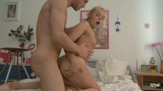Streaming porn scene video image #6 from Blonde Sorority Slut Takes An Anal Creampie