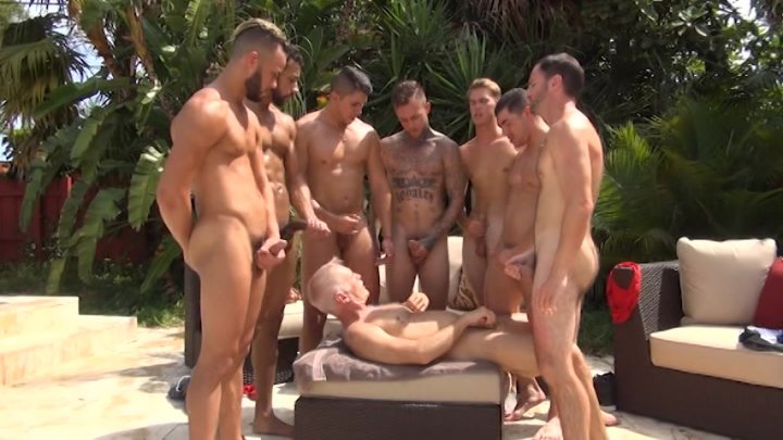 Streaming porn video still #3 from Rocco Steele's My Stepdad Jerked Off the Swim Team