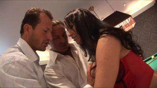 Streaming porn video still #1 from Hickory Dickory Dock The Sheila Takes Both Our Cocks