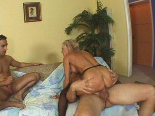 Streaming porn video still #10 from Grannys Wild 3Way