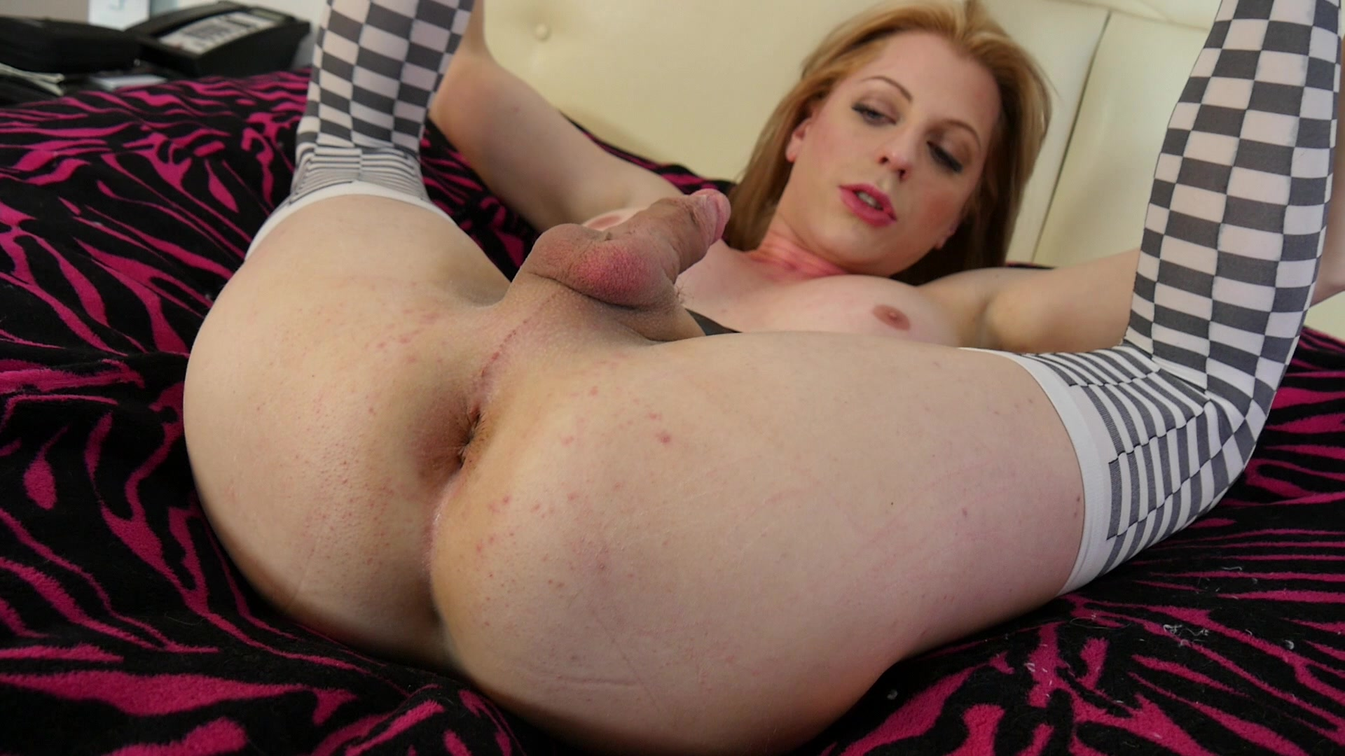independent, Alexis crystal masturbates with butt plug tail brainy girlie girl