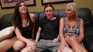 Hot Threeway With Girlfriend And Her Stepmom